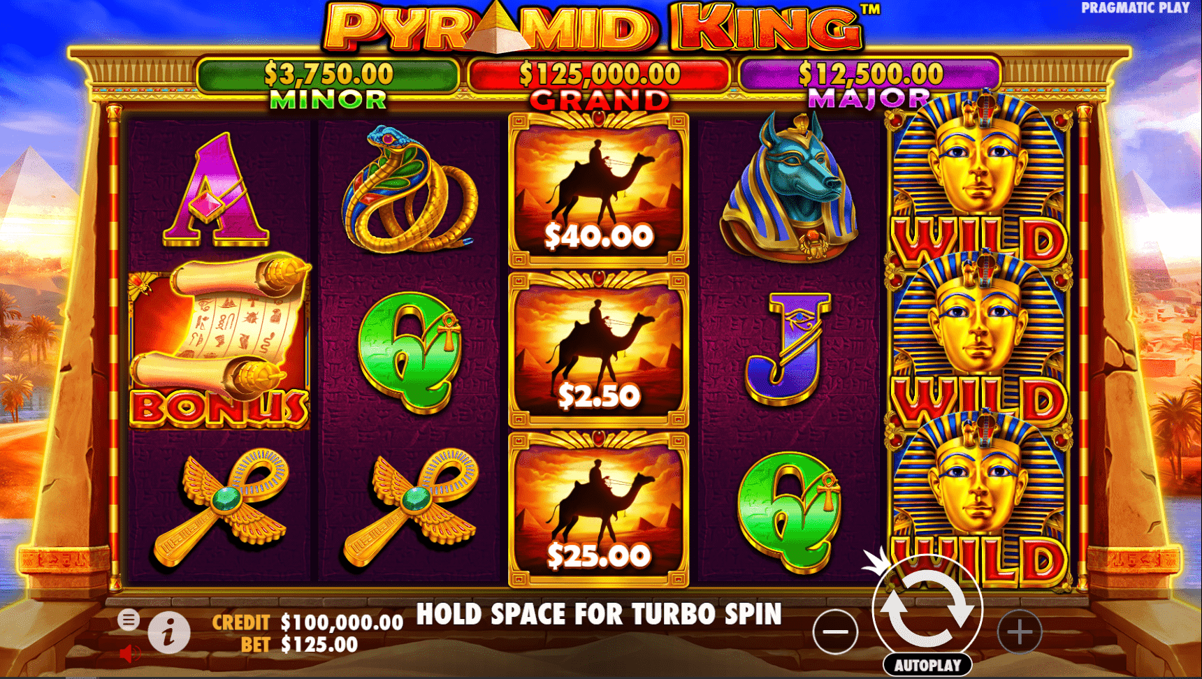 Pyramid King Video Slot game