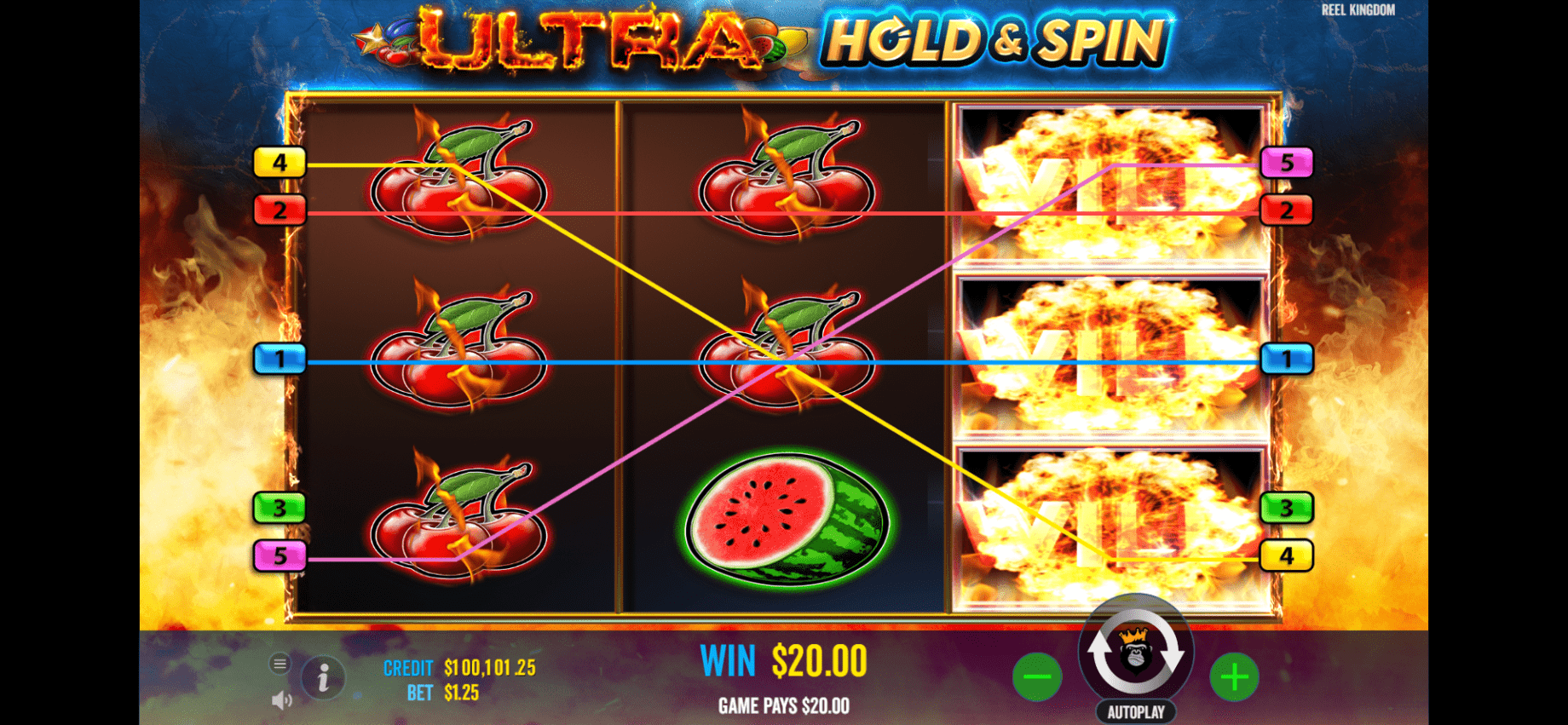 Ultra Hold & Burn slot online Expanding Wild