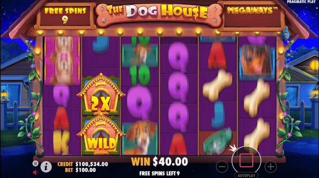 The Dog House Megaways video slot Wilds