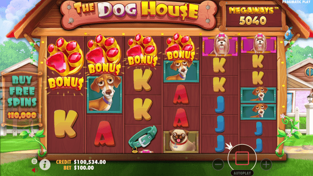 The Dog House Megaways Bonus Trigger