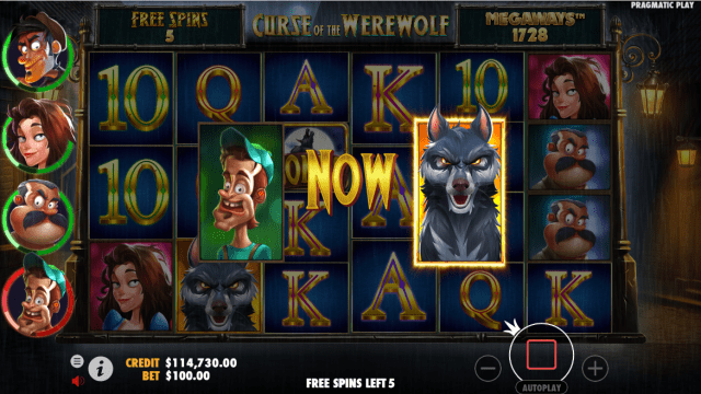 Curse of the Werewolf Megaways video slot bonus game