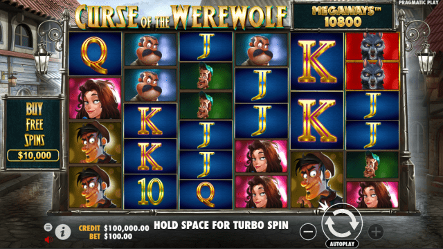 Curse of the Werewolf Megaways video slot base game