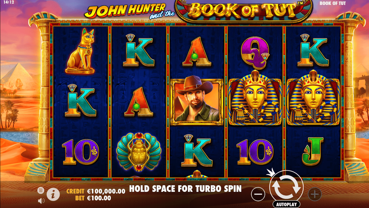 John Hunter & the Book of Tut video slot
