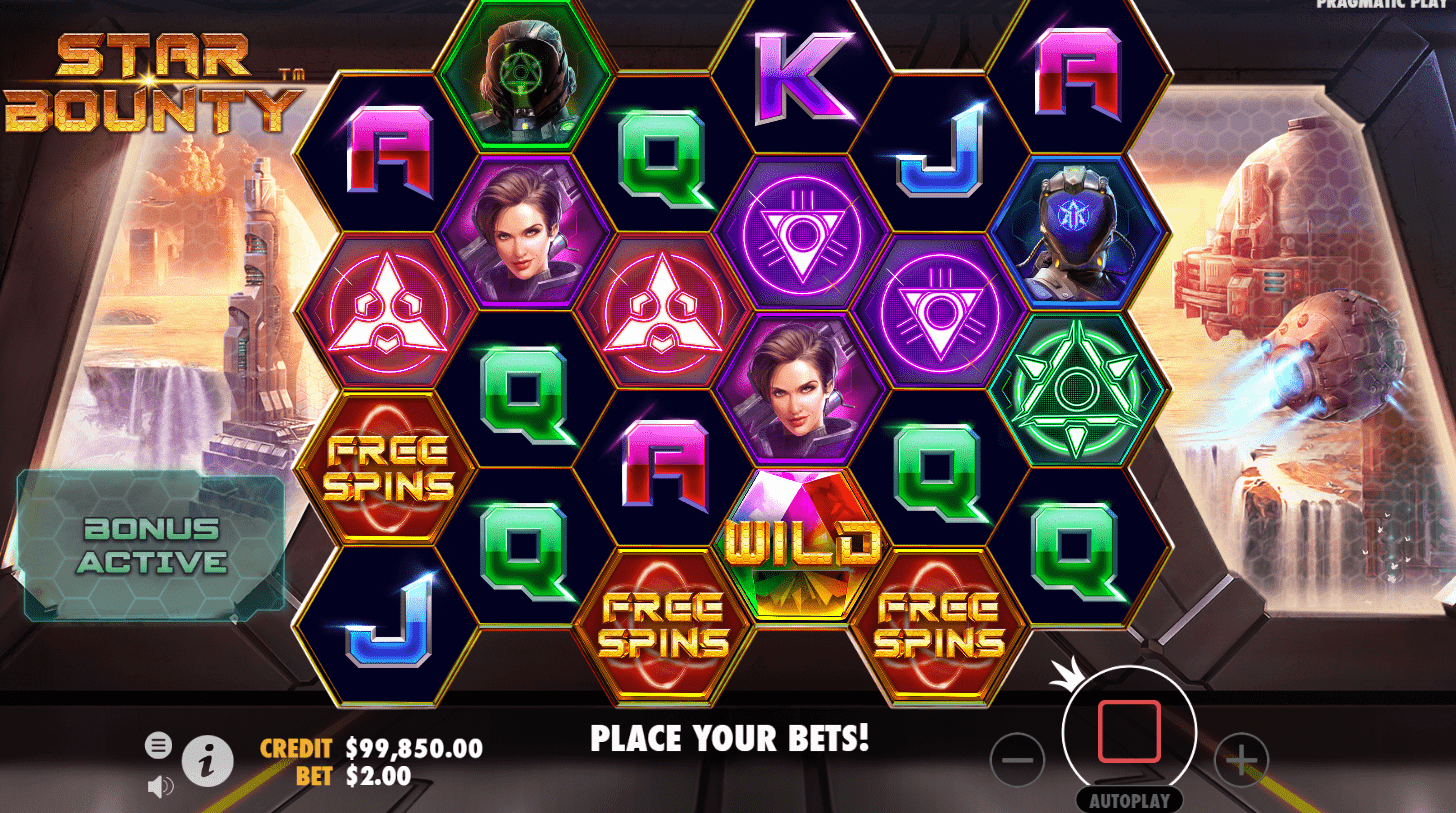 Star bounty - video slot - Free spins trigger