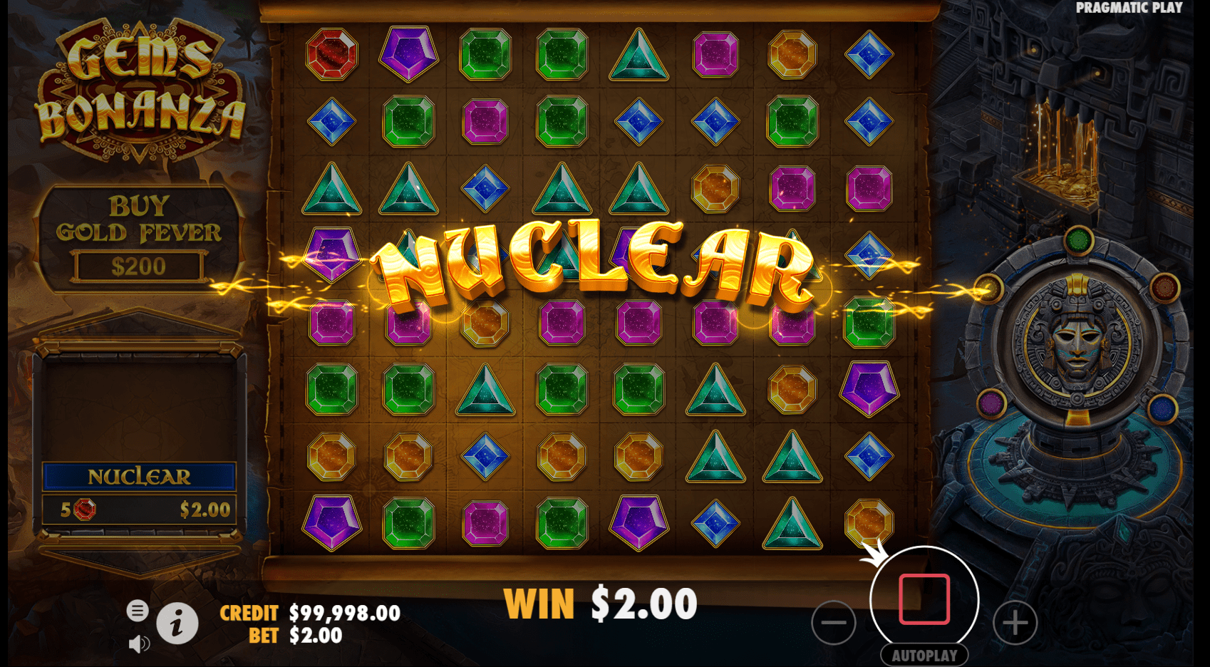 Gems Bonanza video slot Nuclear Feature