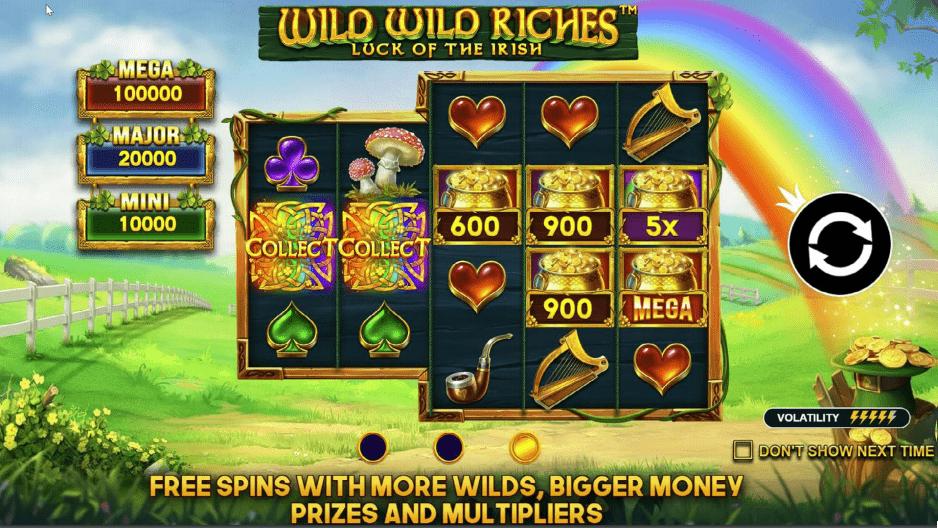 Wild Wild Riches วิดีโอสล็อต