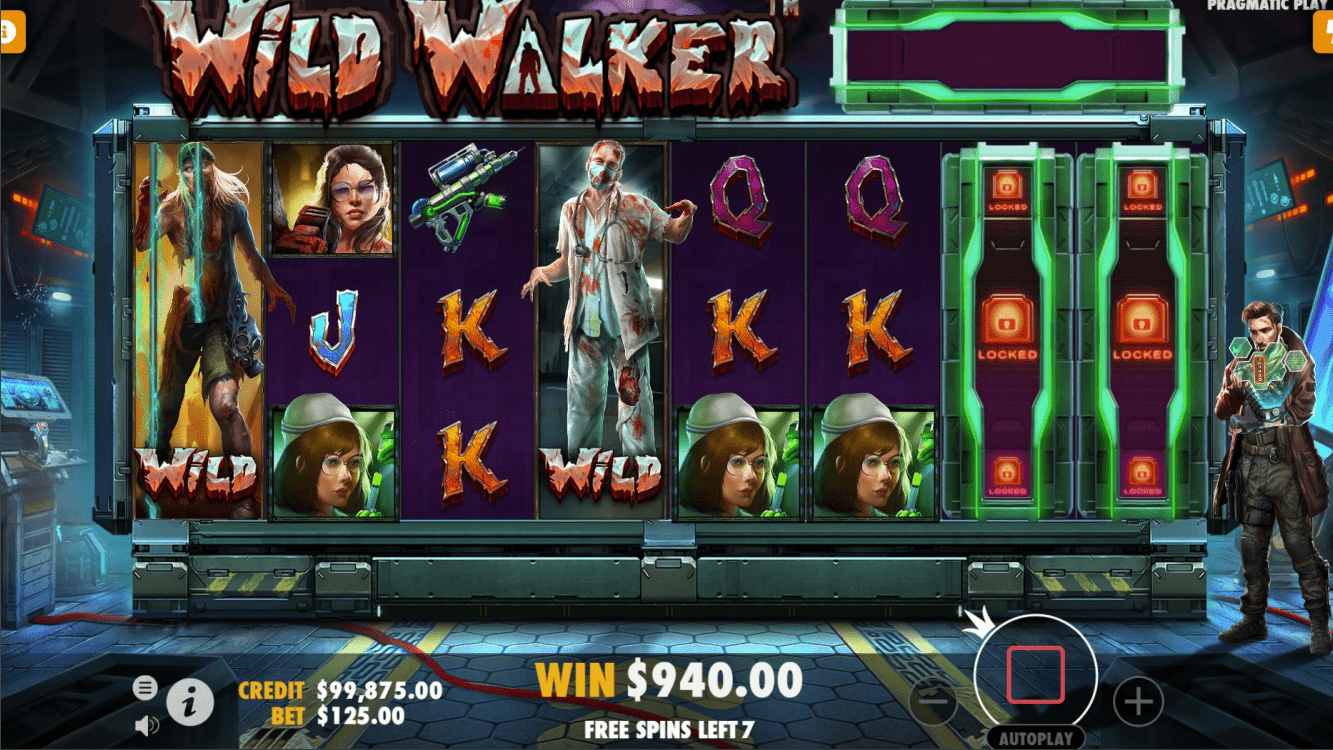 Wild Walker video slot free spins game