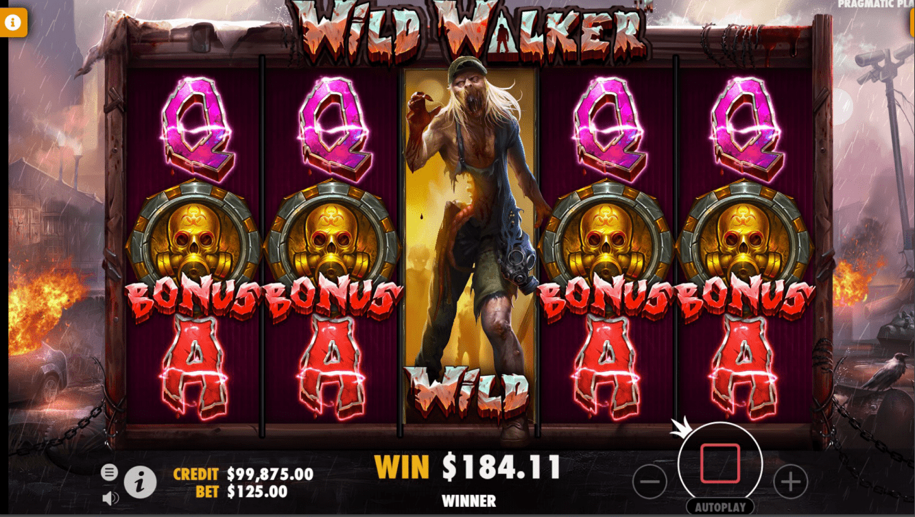 Wild Walker video slot free spins bonus trigger