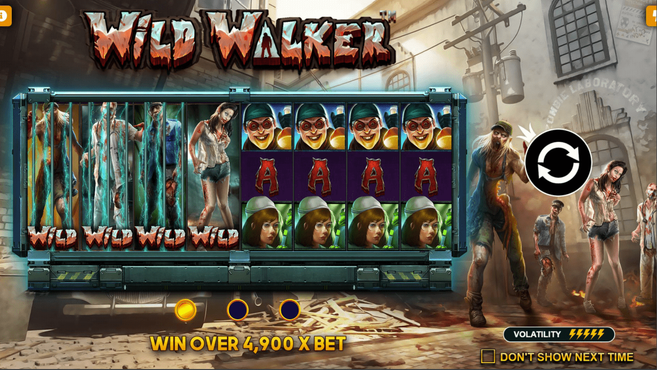 Wild Walker video slot welcome screen