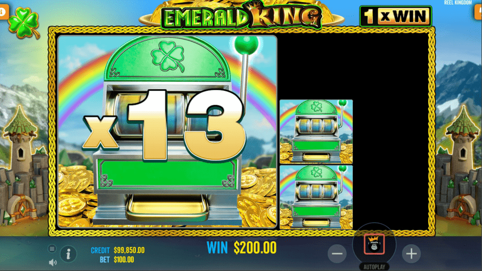 Emerald King video slot Mini slot machine