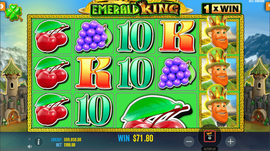 Emerald King video slot mega symbol