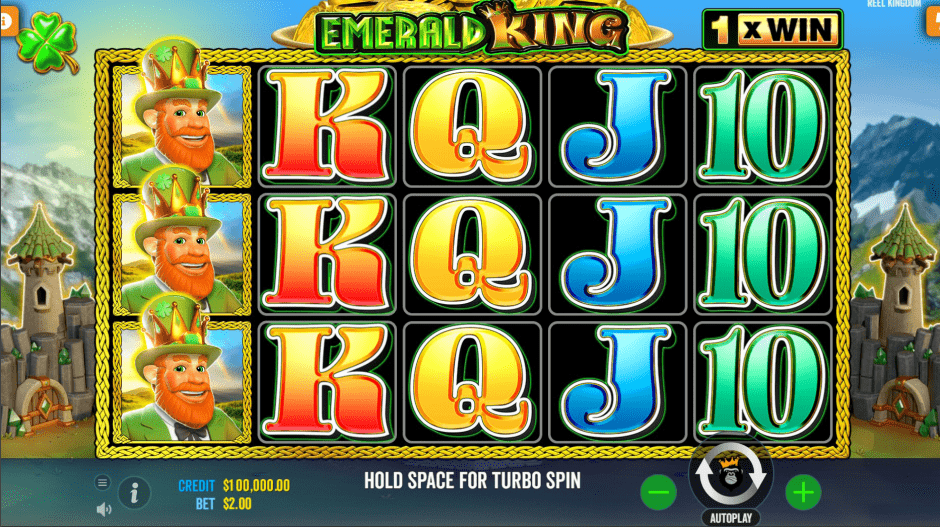 Emerald King Video Slot Base game