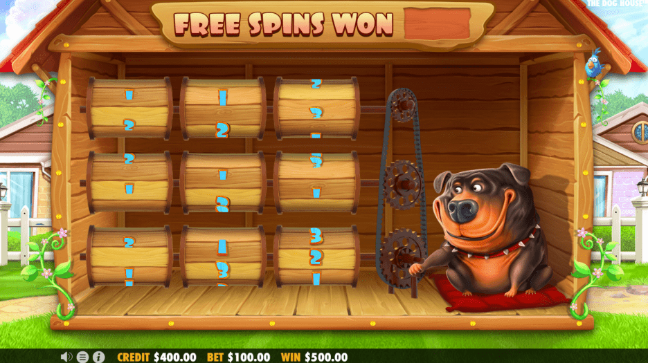 The Dog House video slot Free Spins Mini game