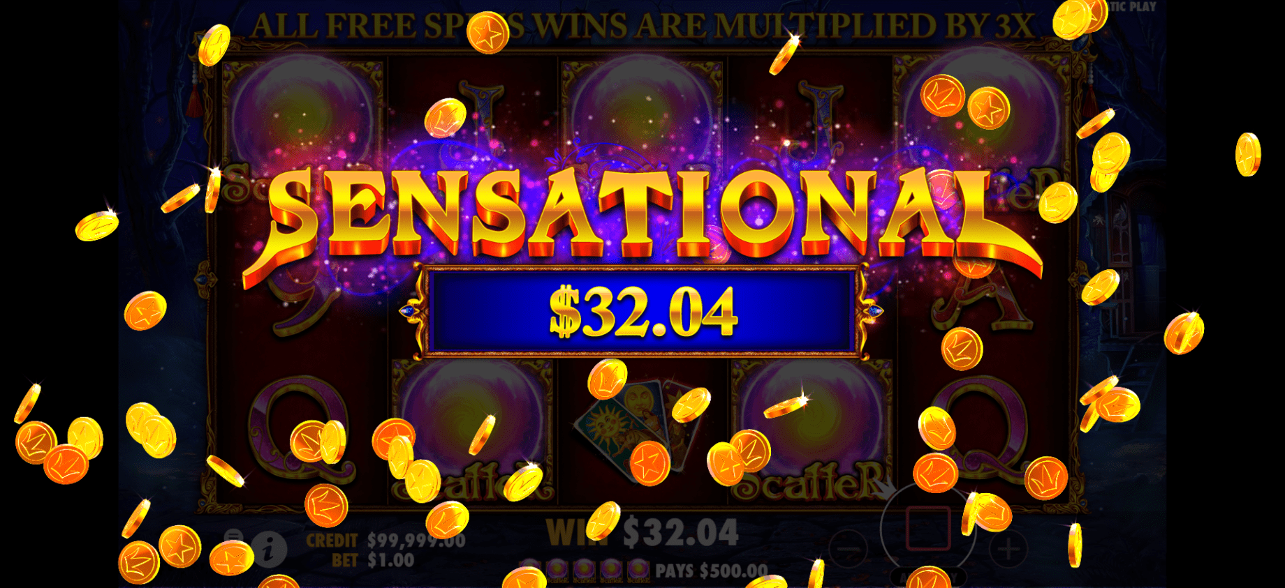 Madame Destiny video slot sensational win
