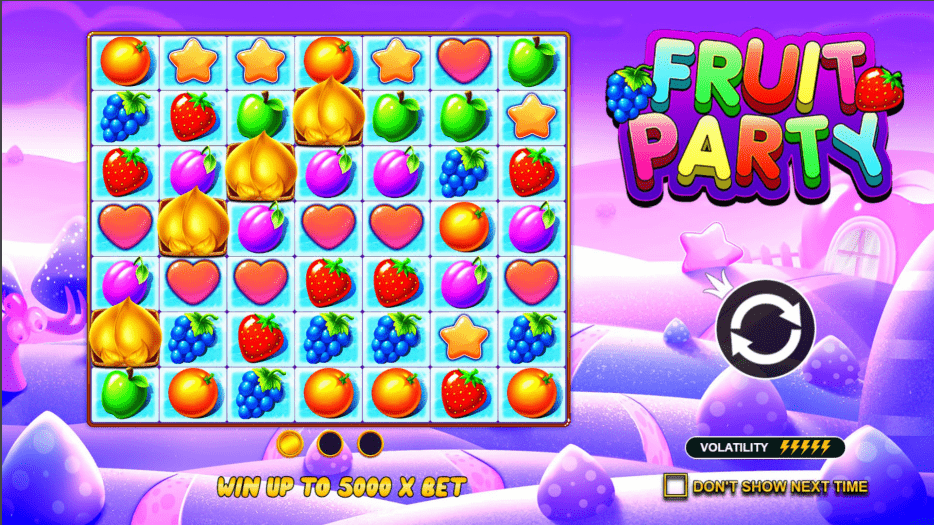 Fruit Party Video slot welcome screen