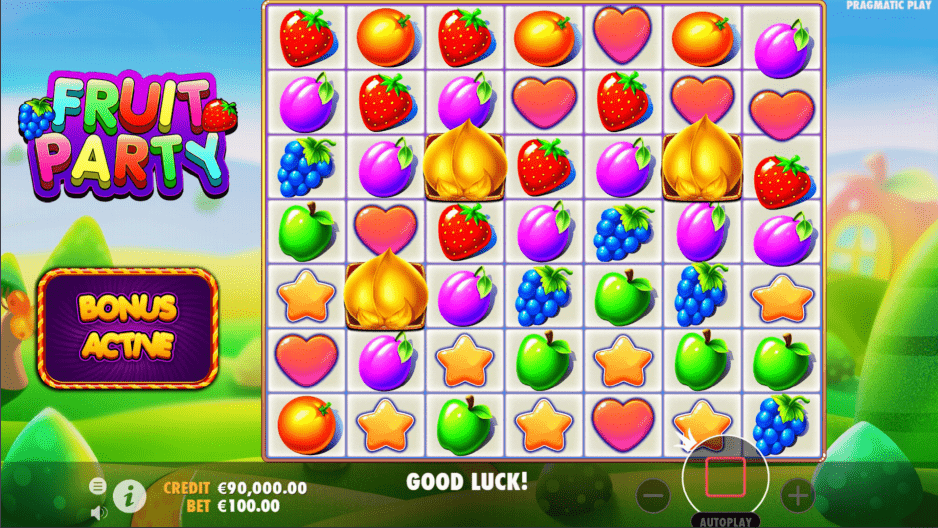 Fruit Party Video slot scatter trigger