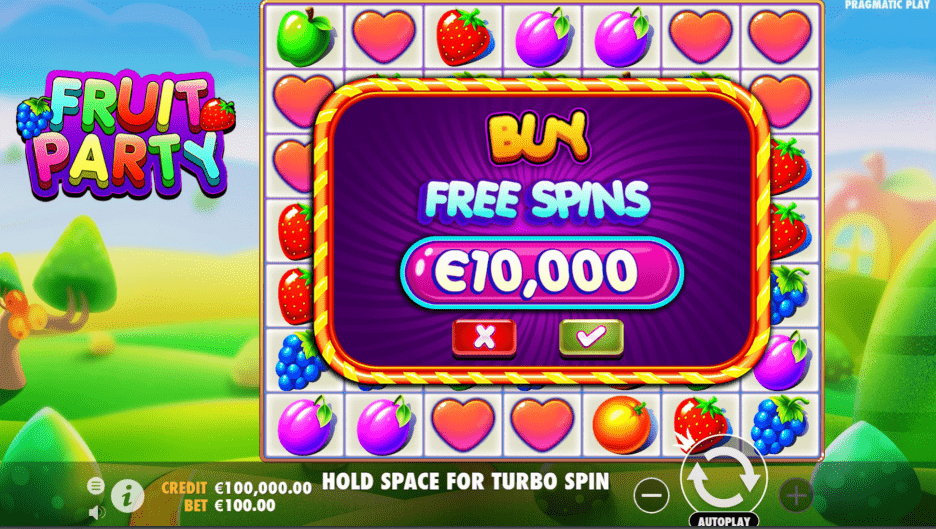 Fruit Party Video slot Buy Free Spins