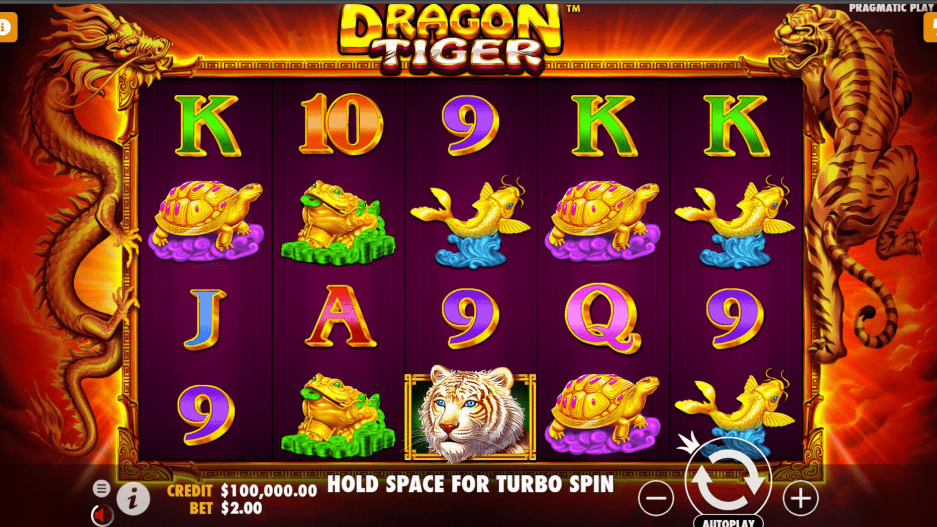 Dragon Tiger Video slot base game