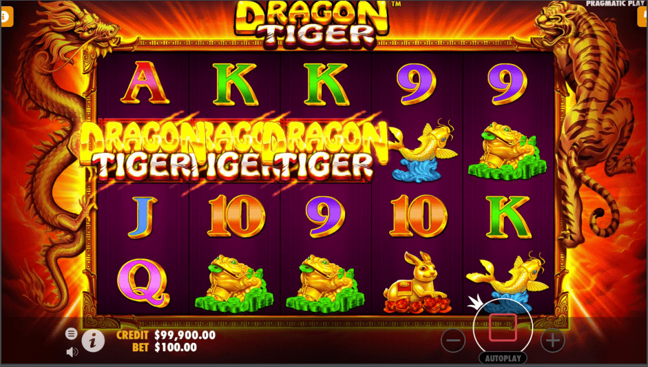 Dragon Tiger Video slot free spins won