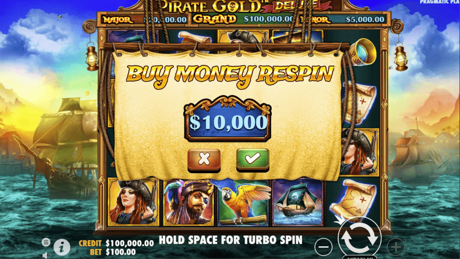Pirate Gold Deluxe Video Slot Buy Feature