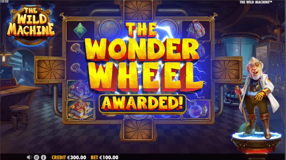 The Wild Machine Video Slot Wonder Wheel Awarded