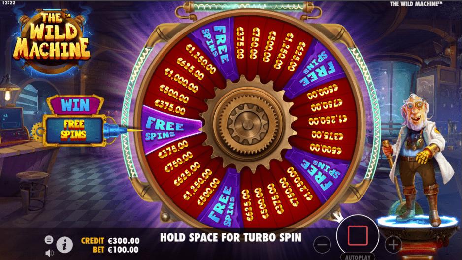 The Wild Machine Video Slot Wonder Wheel Free spins