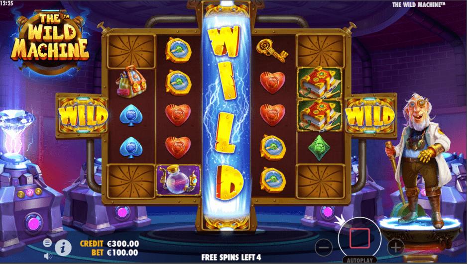 The Wild Machine Video Slot Wild Reel