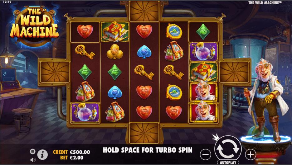 The Wild Machine Video Slot base game