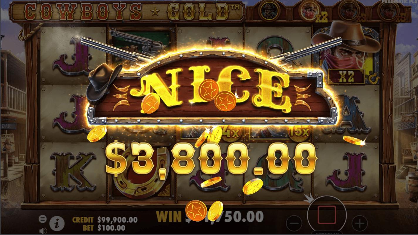 Cowboys Gold Video slot big win