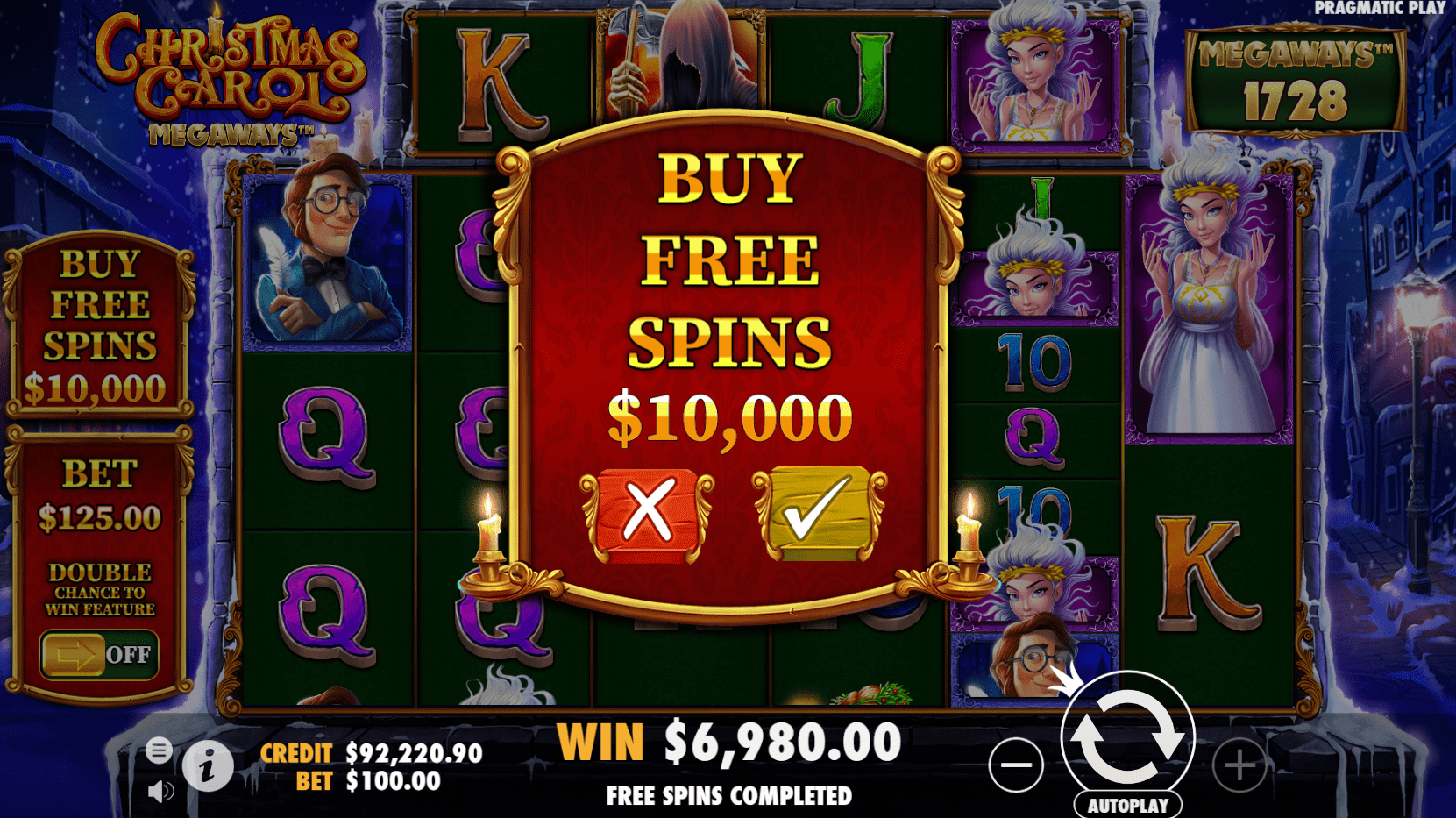 Christmas Carol Megaways video slot buy free spins