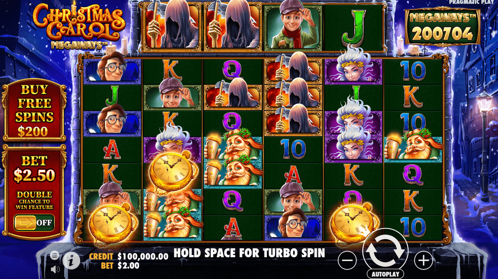 Christmas Carol Megaways video slot base game