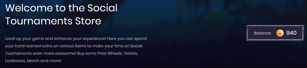 Social Tournaments Store Balance