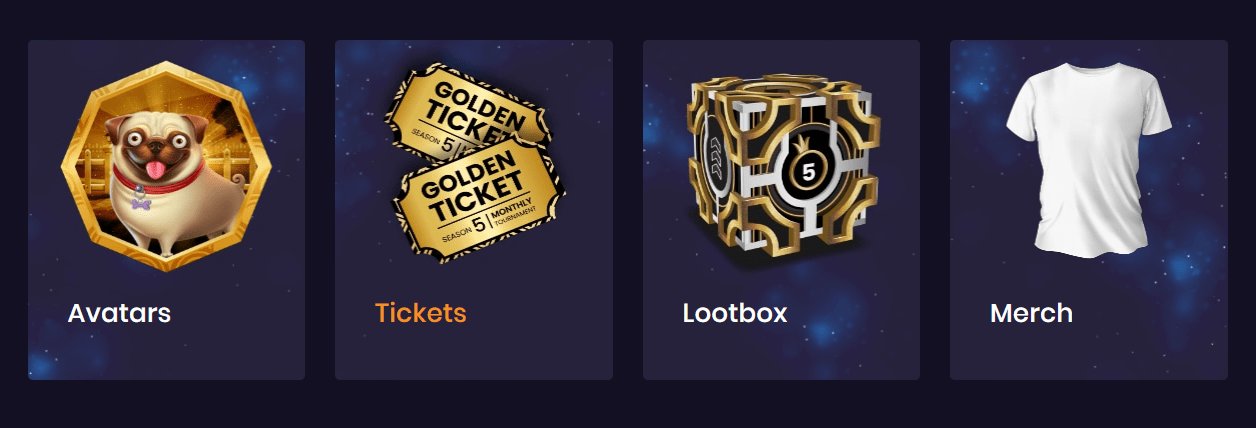 Social Tournaments Store Categories