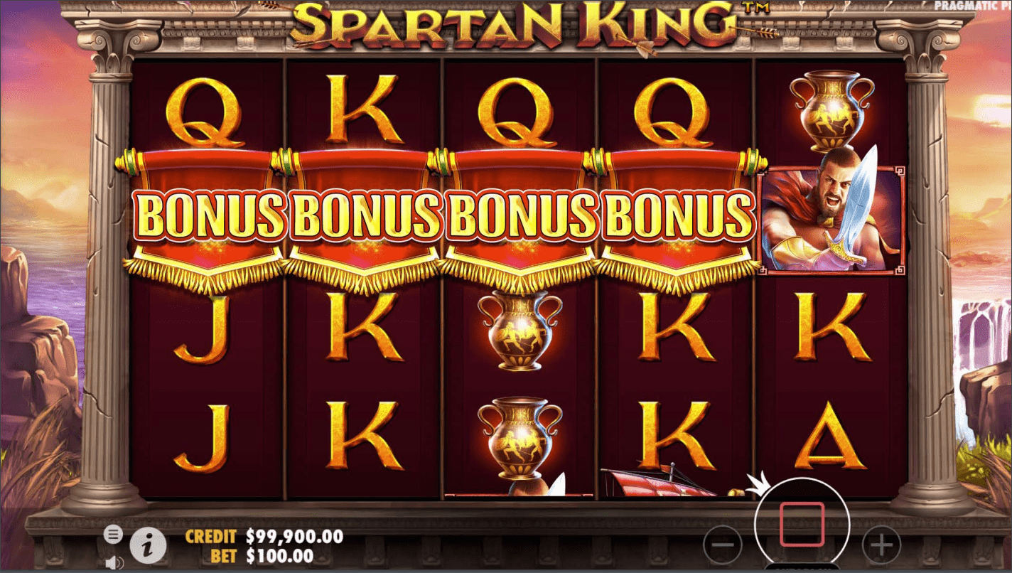 Spartan King Video Slot bonus trigger