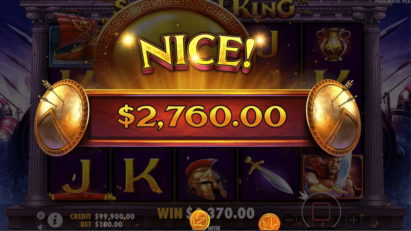 Spartan King Video Slot nice win