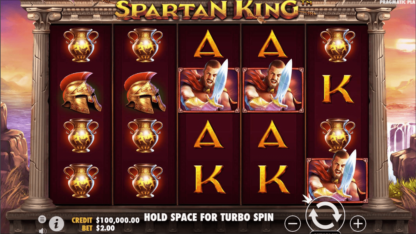 Spartan King Video Slot base game