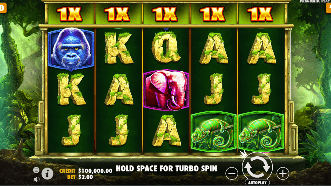 Jungle Gorilla Video Slot base game