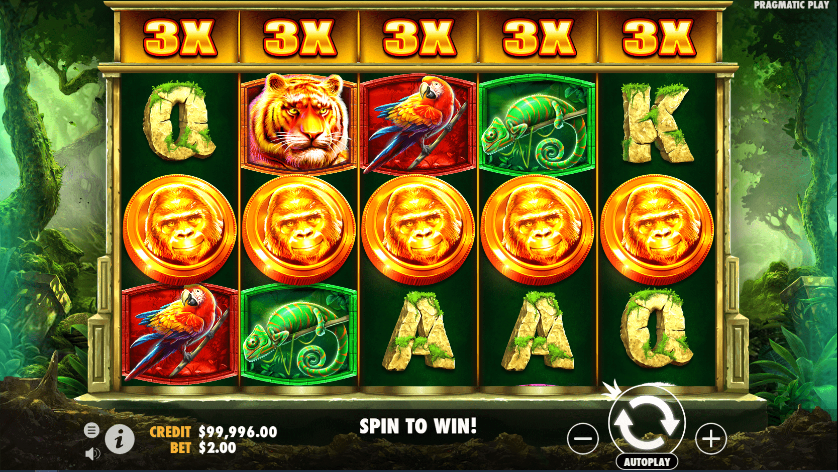 Jungle Gorilla Video Slot scatters with a multiplier