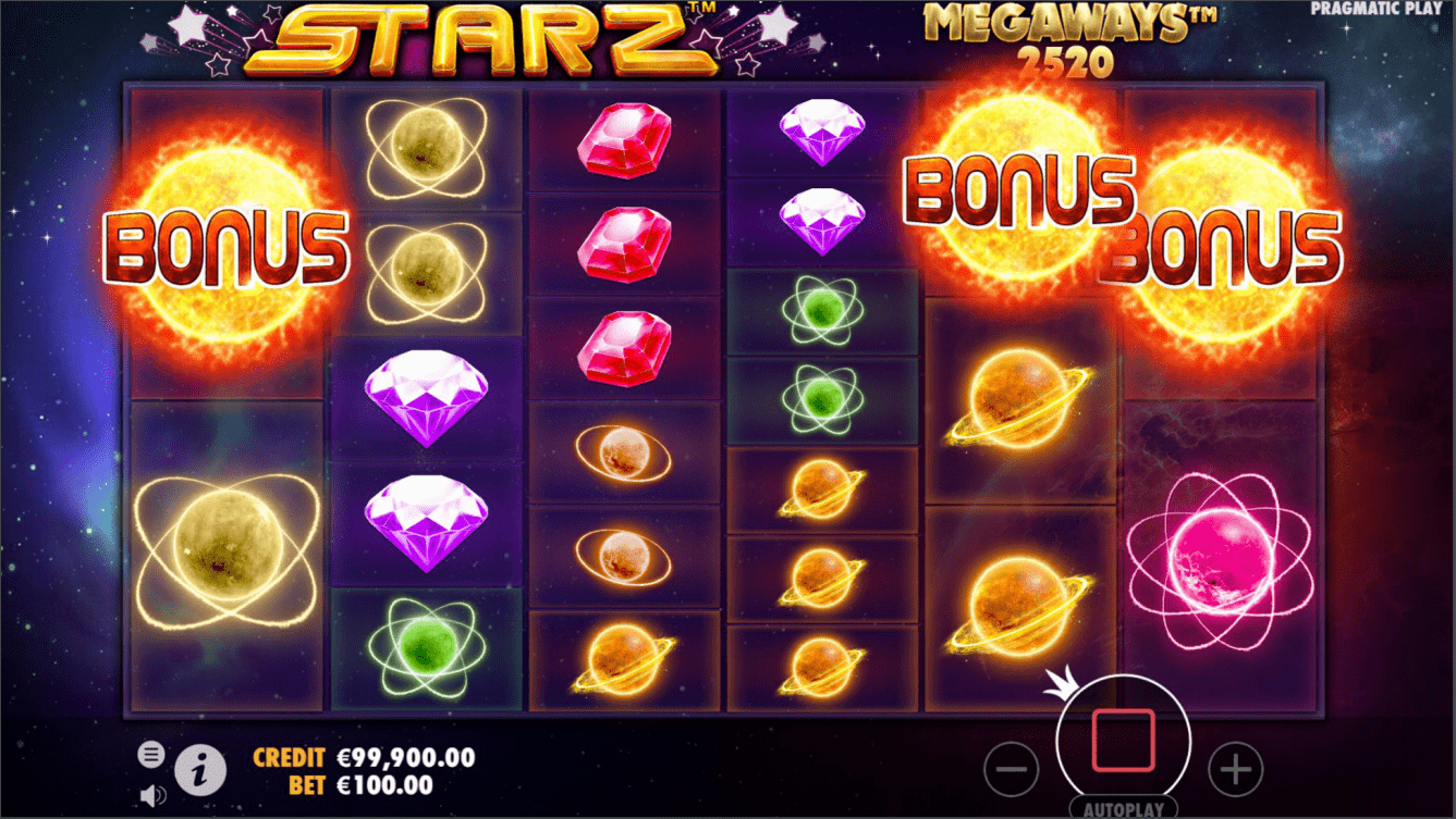 Starz Megaways Video Slot bonus trigger