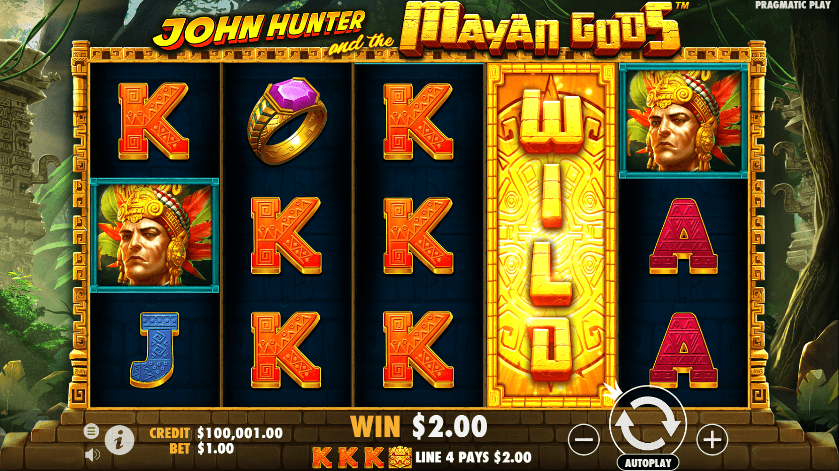 John Hunter and the Mayan Gods video slot Wild hit