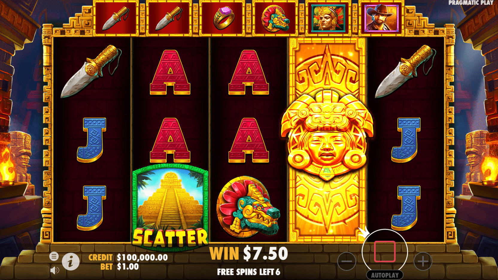 John Hunter and the Mayan Gods video slot progressive free spins