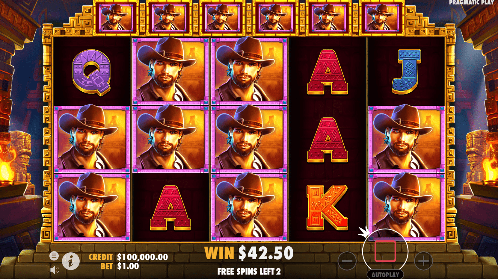 John Hunter and the Mayan Gods video slot level six