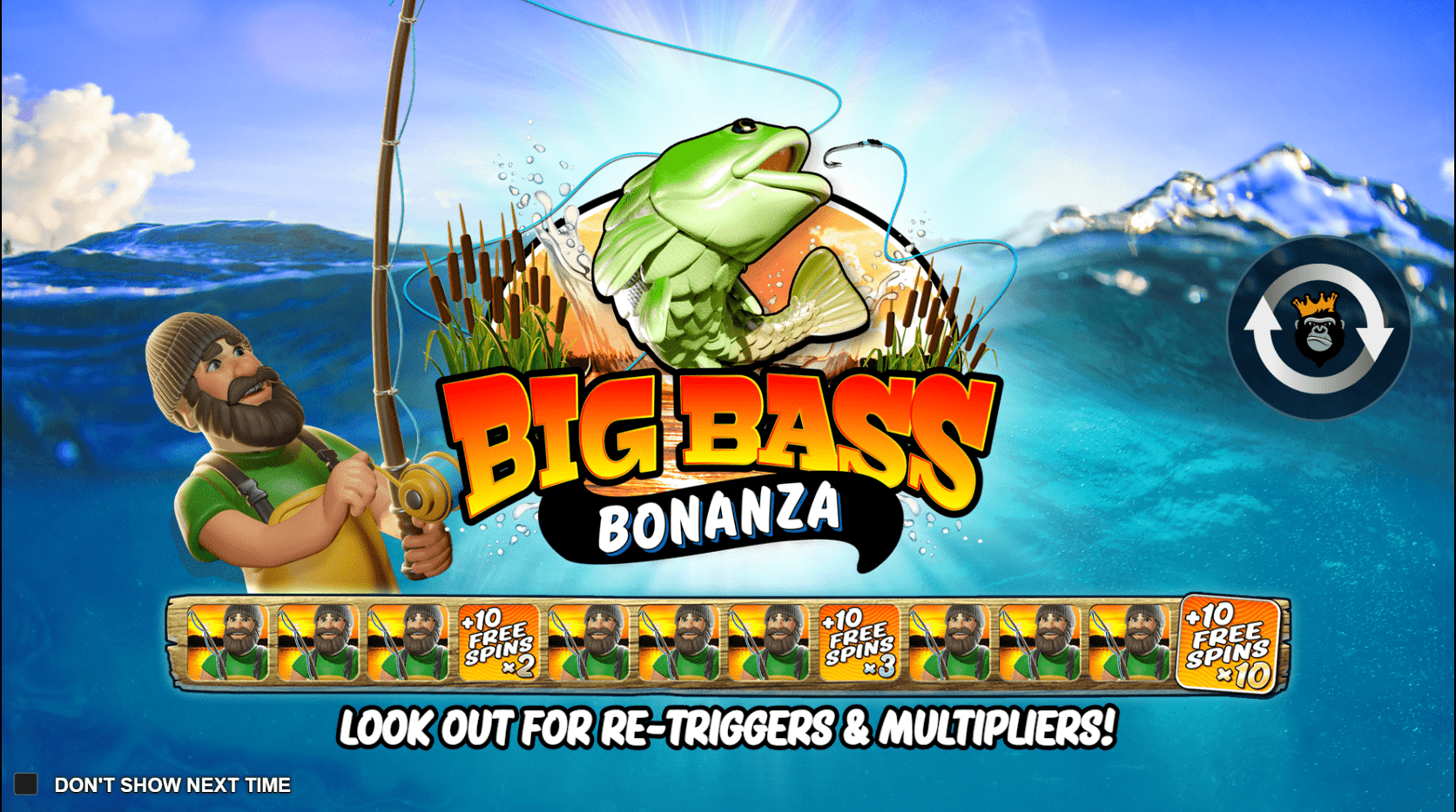 Big Bass Bonanza Video Slot welcome screen