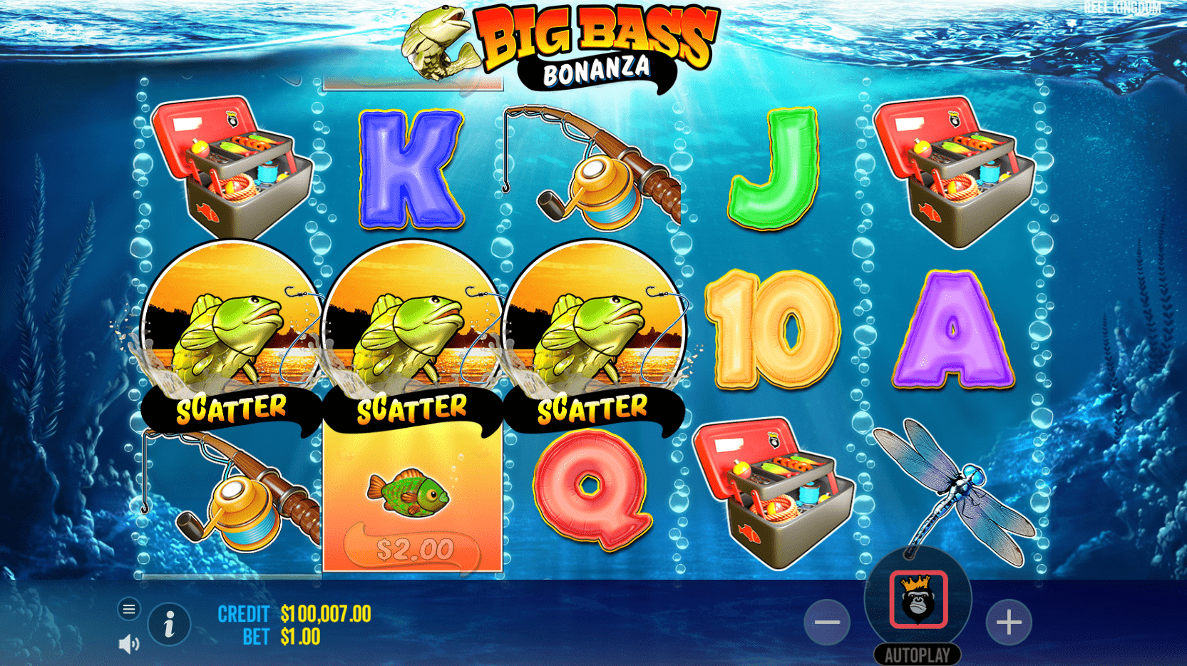 Big Bass Bonanza Video Slot Scatter Trigger