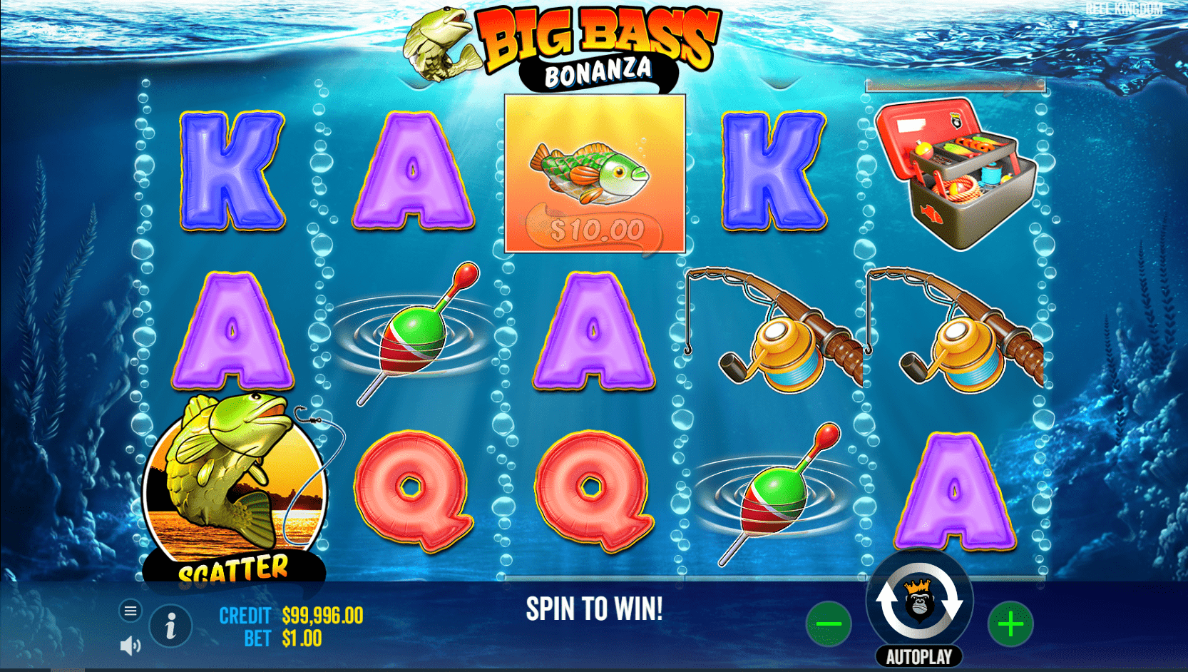 Big Bass Bonanza Video Slot base game