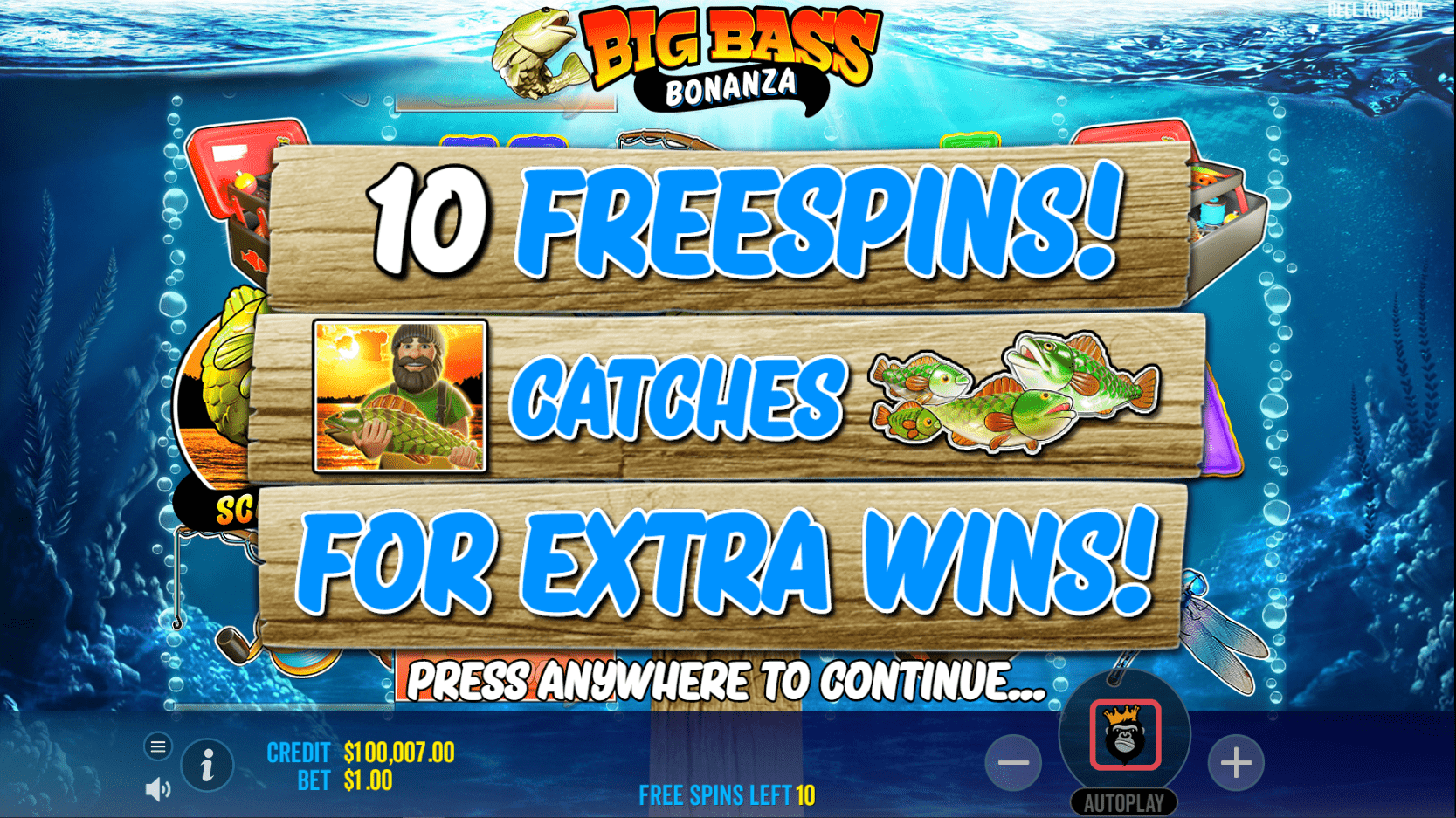 Big Bass Bonanza Video Slot 10 Free Spins