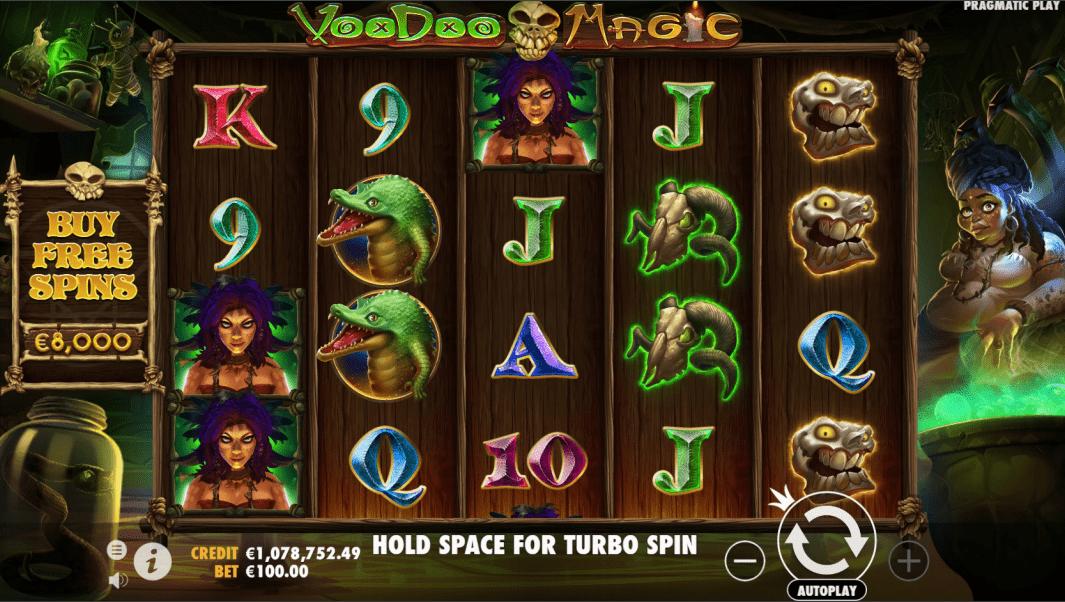 Voodoo Magic Videoslot base game