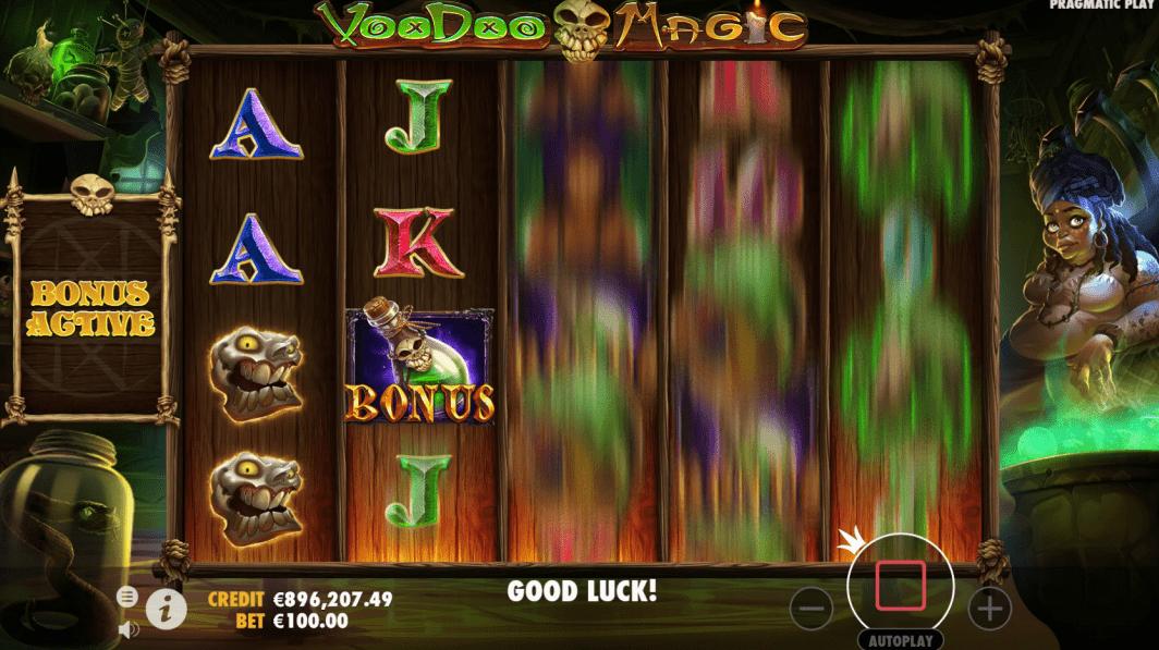Voodoo Magic Videoslot spin