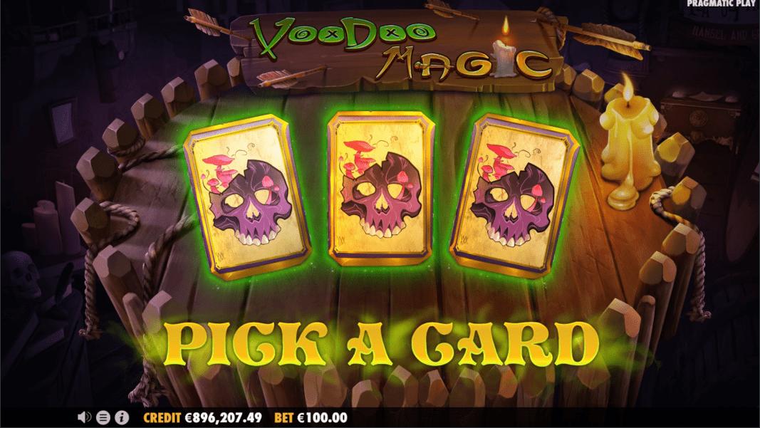 Voodoo Magic Videoslot pick a card