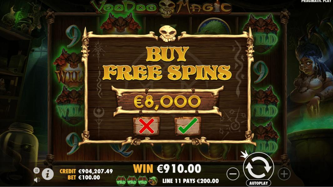 Voodoo Magic Videoslot buy free spins